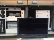 Check out these custom designed entertainment and storage bays. Equipped with a radio, fridge/freezer, grill, a custom fitted TV and a large cabinet this Liberty is sure to turn heads.