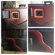 Custom entry door panels bring life back to your coach. #Prevost #Featherlite #Vantare #TradewindsCoach
