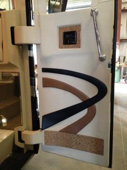 Simple, custom door panel.