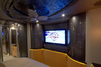 Custom stateroom TV fabrication.