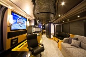 Don't like the standard location of your salon TV? We can put it wherever you'd like.