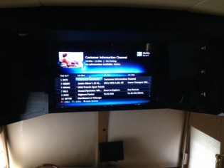 """A beautiful picture on a new 46"""" HD 3D Smart TV installed in the salon."""