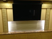 """New 46"""" HD 3D Smart TV installed in the stateroom of a 2005 Prevost."""