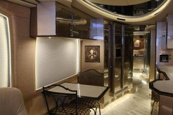 Get rid of those yellowed out indirect lights and freshen up your coach with dimmable LED lights. #tradewindscoach