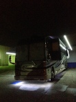 A full exterior LED light package ensures that you will be the center of attention. Allow us to outfit your coach with LED awning lights and a full LED package underneath the bus. You can also control the strength of the lights with a dimmer, conveniently mounted in your bay. #tradewindscoach